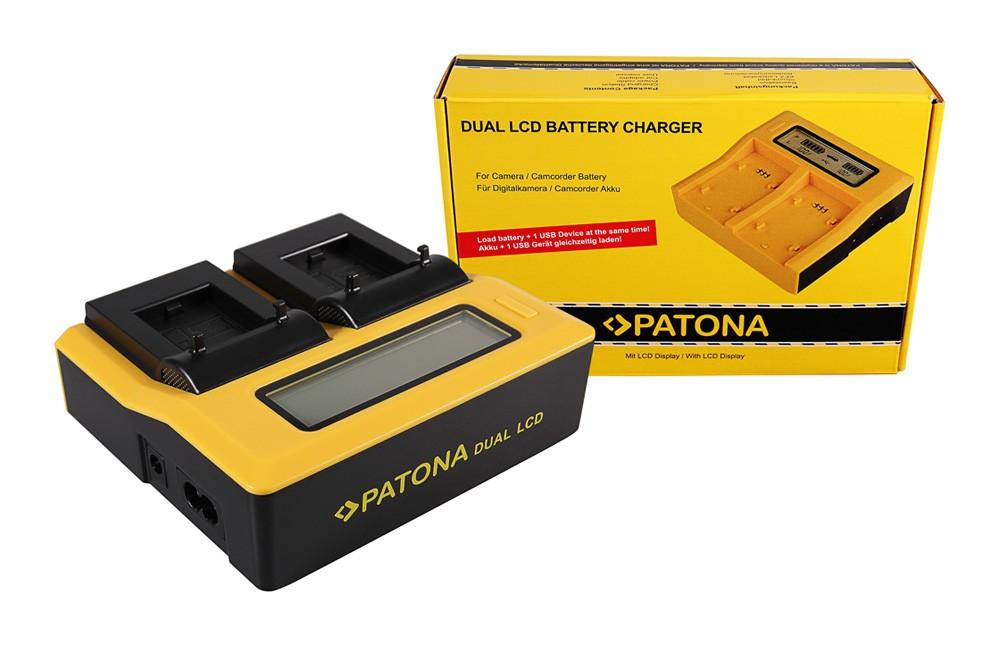 PATONA Dual LCD USB Ladegerät f. GoPro AHDBT-301 AHDBT-302 H