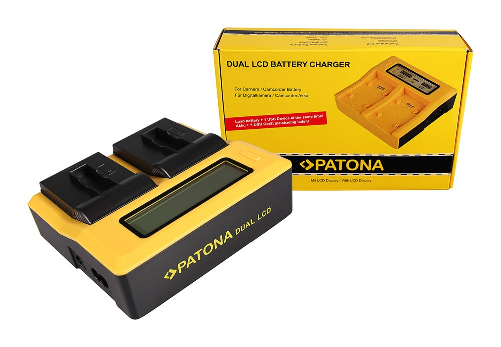 PATONA Dual LCD USB Ladegerät f. GoPro AHDBT-401 Hero4 Black