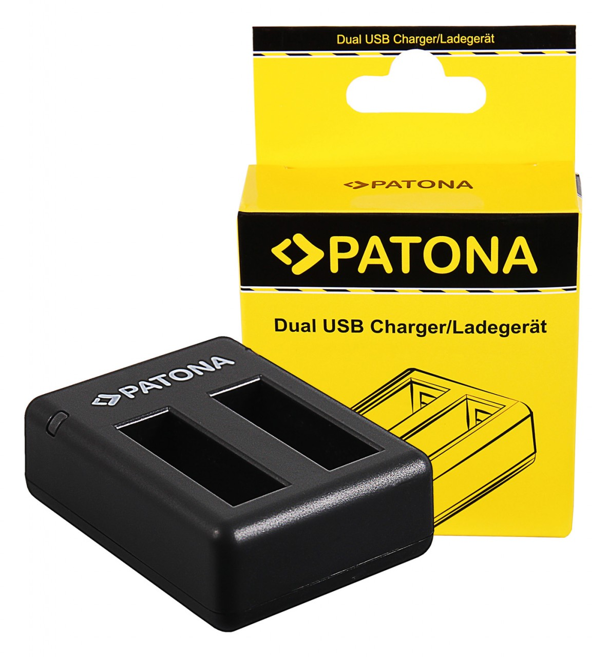 PATONA Dual Charger f. Insta360 One X Action Cam incl. Micro