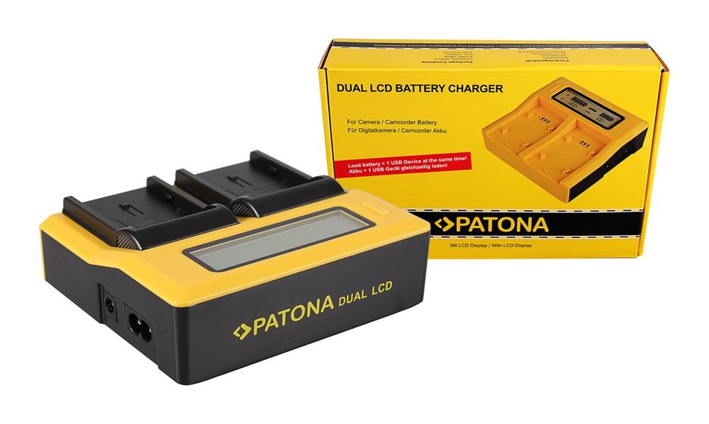 PATONA Dual LCD USB Charger for JVC BNVF707 BN-VF707 BNVF707