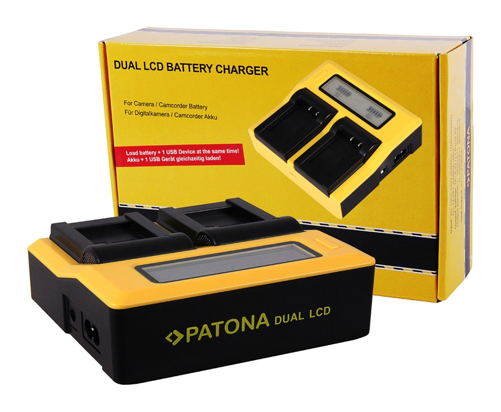 PATONA Dual LCD USB Charger for Kodak LB070 LB-070