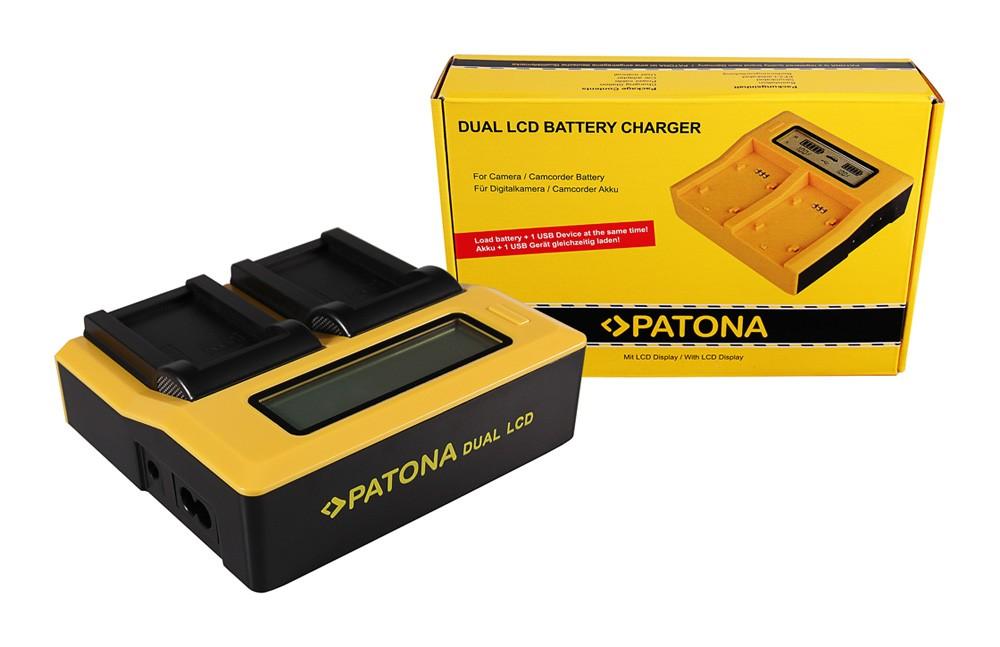 PATONA Dual LCD USB Ladegerät f. Konica Minolta Minolta NP-2