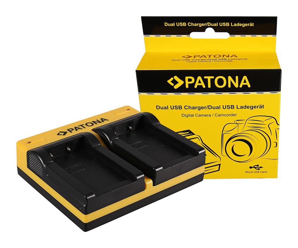 PATONA Dual Ladegerät f. Konica Minolta Minolta NP-200 Dimag