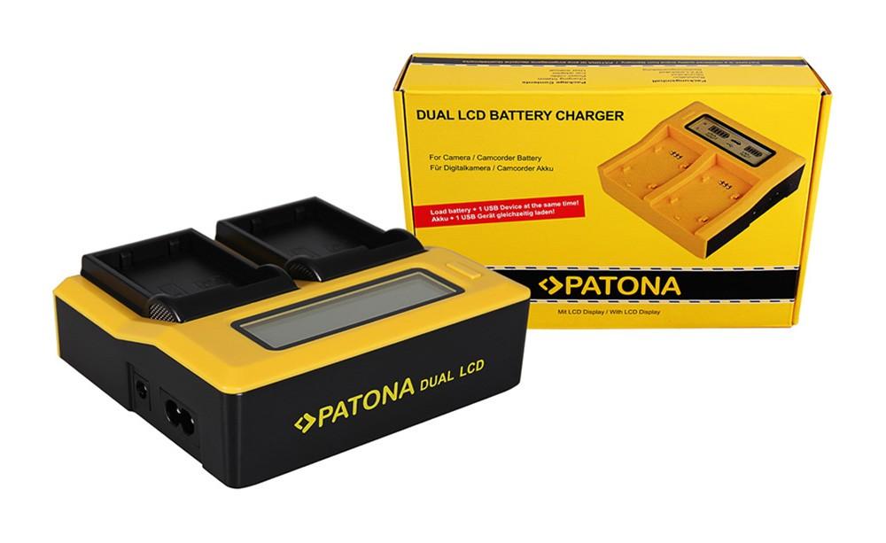 PATONA Dual LCD USB Charger for Nikon ENEL15 EN-EL15