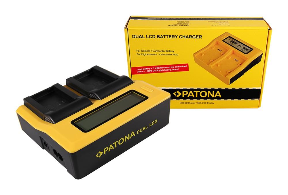 PATONA Dual LCD USB Charger for Nikon ENEL24 EN-EL24
