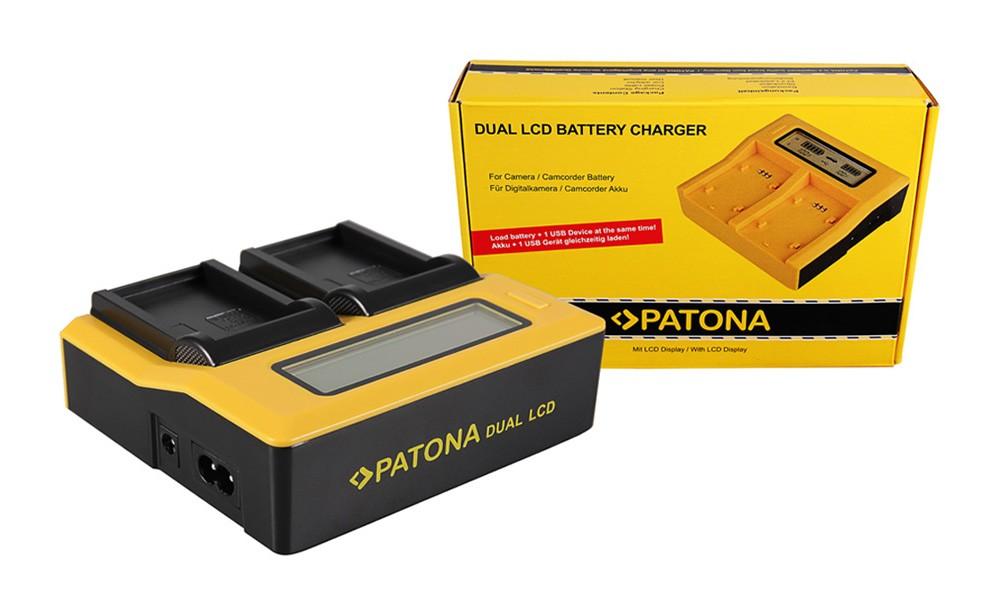 PATONA Dual LCD USB Charger for Olympus BLS1 BLS5 PSBLS1 PS-