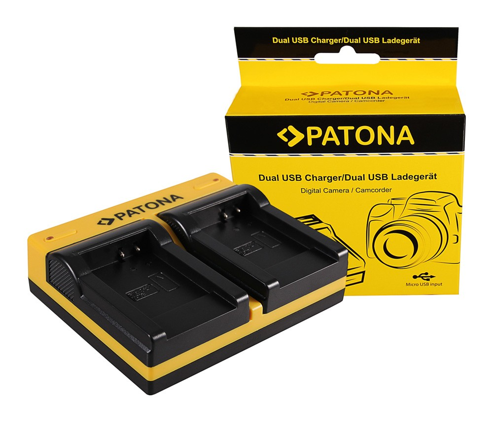 PATONA Dual Ladegerät f. Olympus Li-70B FE FE4020 FE-4020 FE
