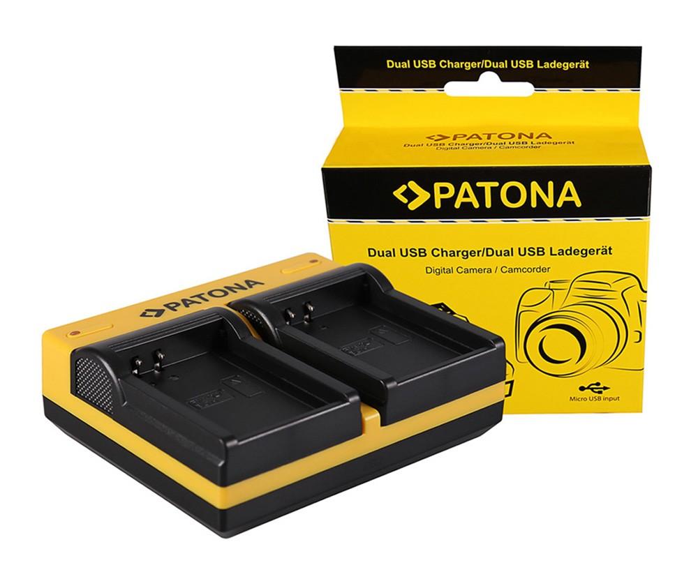 PATONA Dual Ladegerät f. Olympus BLN-1 OMD EM1 E-M1 EM5 E-M5