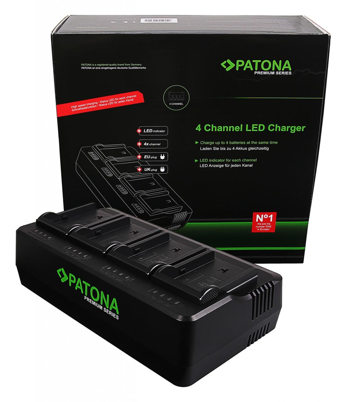 PATONA Premium 4-fold Charger for NP-FM50 QM51 QM71 QM91 F55