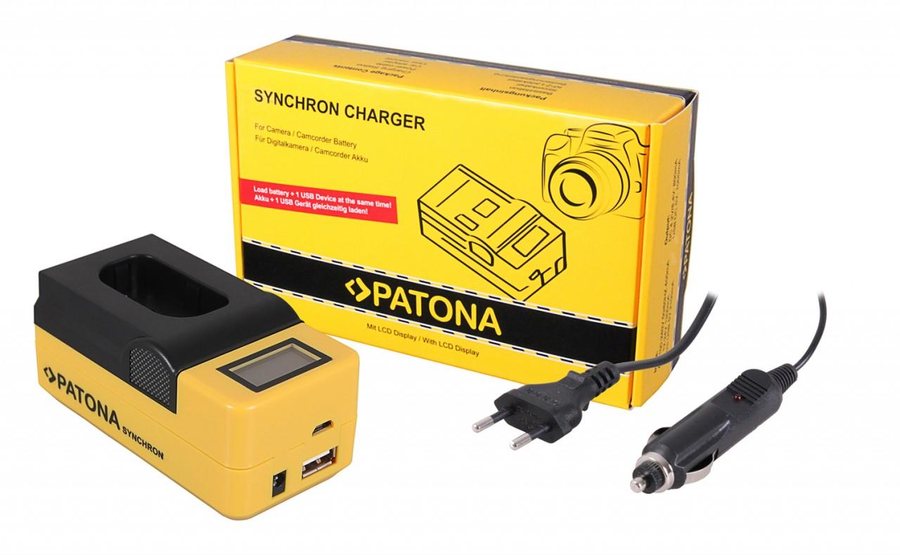 PATONA Synchron USB Charger f. Panasonic DMW-BLJ31 Lumix DC-
