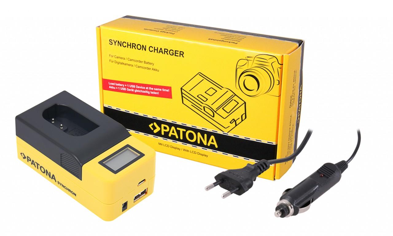 PATONA Synchron USB Charger f. Panasonic DMW-BLK22 DC-S5 G9