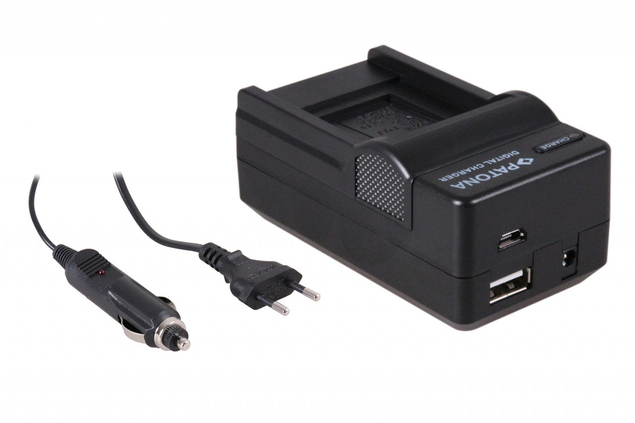 PATONA 4in1 Charger Panasonic DMW-BCC12 CGA-S005 S005E DMC-F
