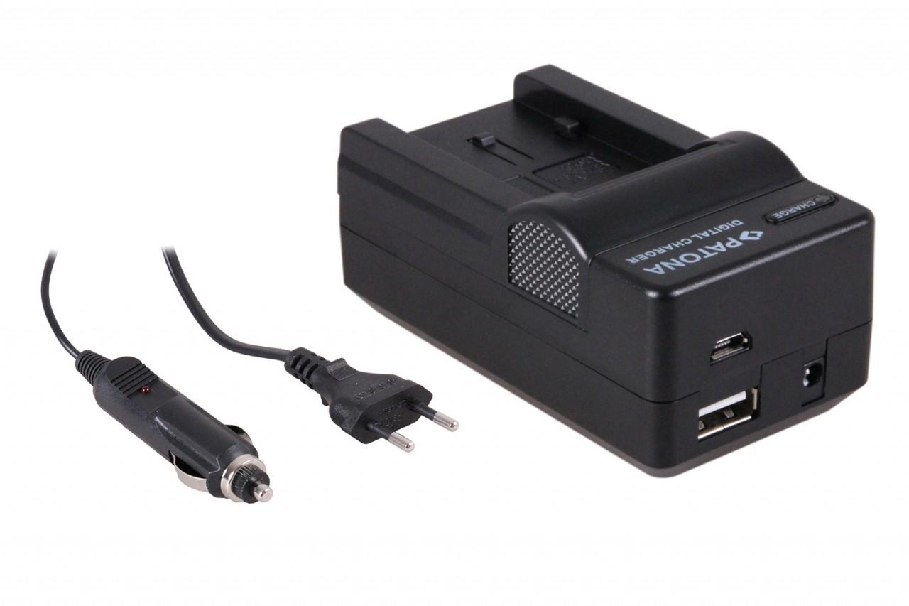 PATONA 4in1 Charger for Panasonic VBK180 VBK360 HDC-DX3 HDC-