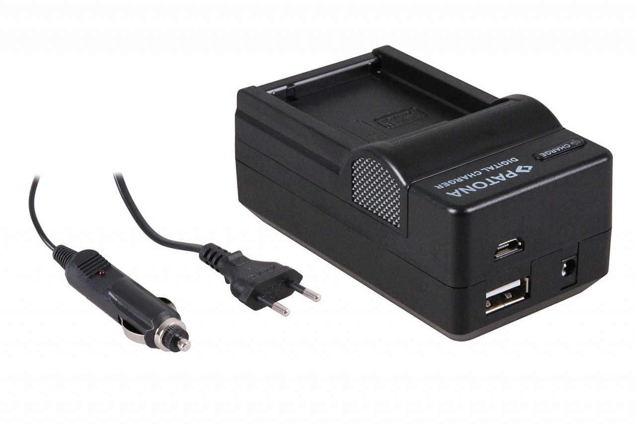 PATONA 4in1 Charger for Panasonic DMW-GH2 DMW-BLC12 DMWGH2