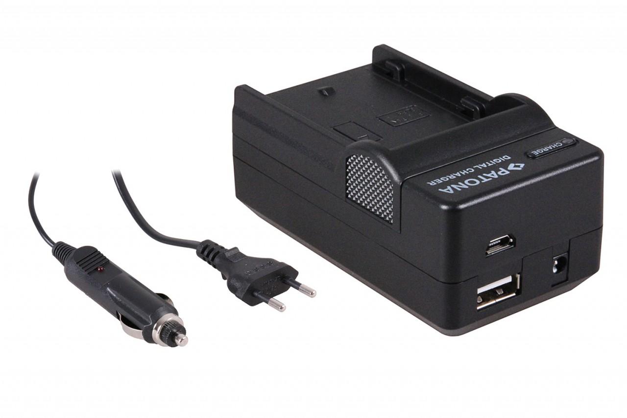 PATONA 4in1 Charger f. Panasonic Lumix DMC-GH3 DMC-GH3A DMW-