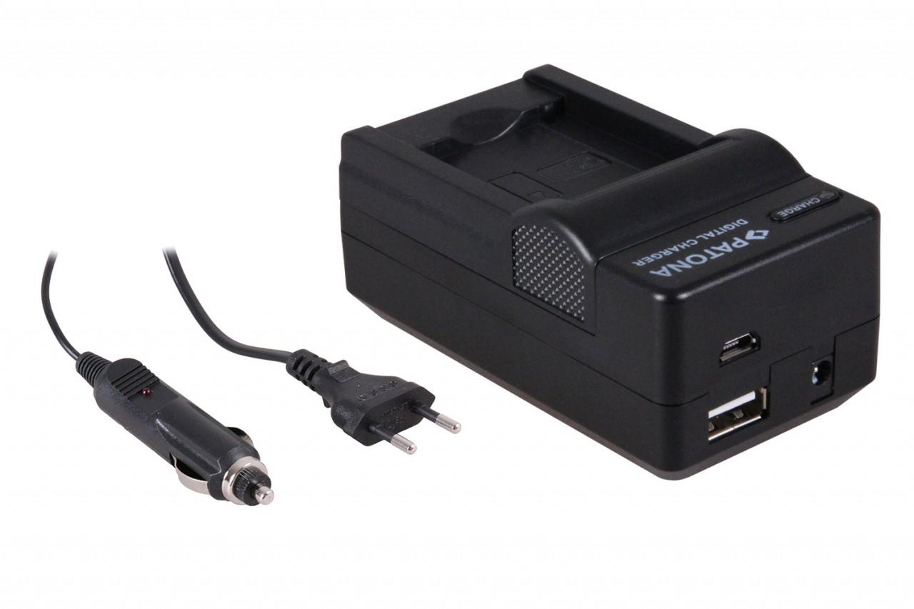 PATONA 4in1 Charger for Panasonic DMW-BCL7E SZ9 SZ3 XS1 FS50