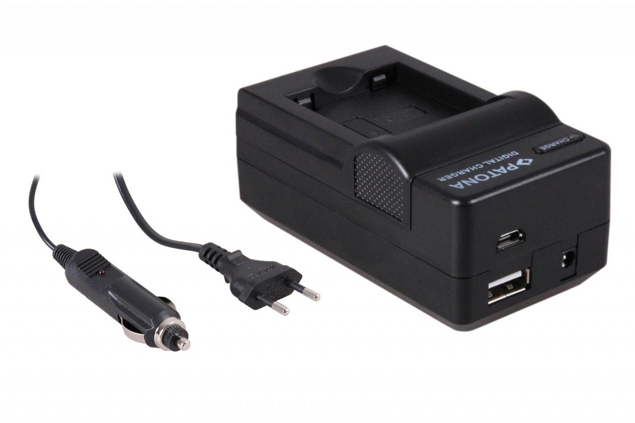 PATONA 4in1 Charger f. Panasonic DMW-BCN10 DMW-BCN10PP DMW-B
