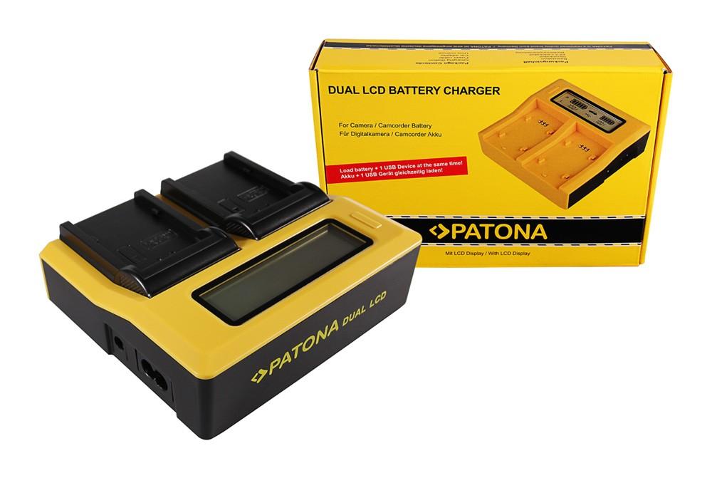 PATONA Dual LCD USB Charger for Panasonic VWVBD29 VW-VBD29 V