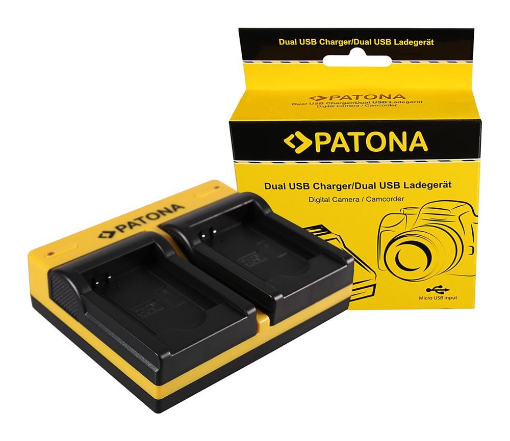 PATONA Dual Ladegerät f. Panasonic DMW-BCL7 Lumix F5 FH50 FS
