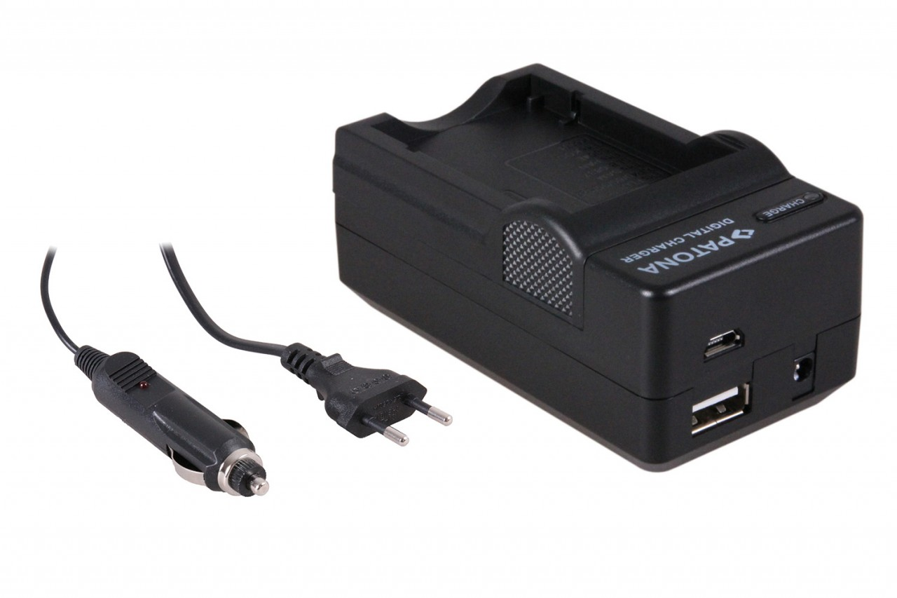 PATONA 4in1 Charger Fuji Battery NP-40 NP40 Finepix A700 F45