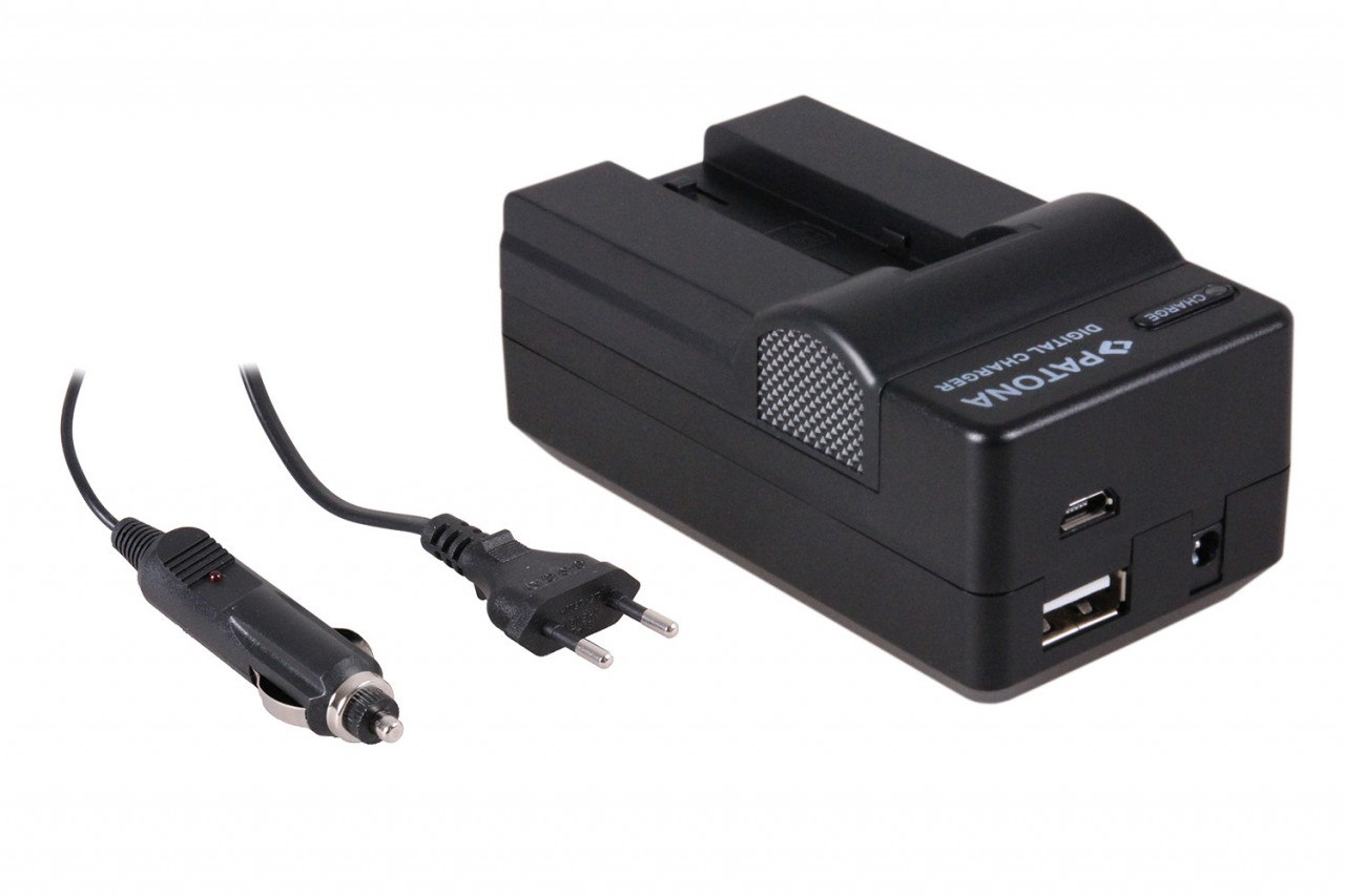 PATONA 4in1 Charger for Samsung SLB-0637 L77 Dimage X60 X50