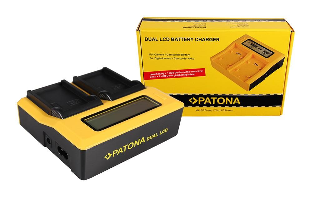 PATONA Dual LCD USB Charger for Samsung IABP80W IA-BP80W BP8
