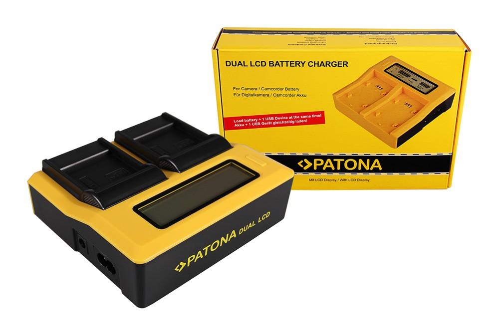 PATONA Dual LCD USB Charger for Samsung IA-BP85 ST BP85ST BP