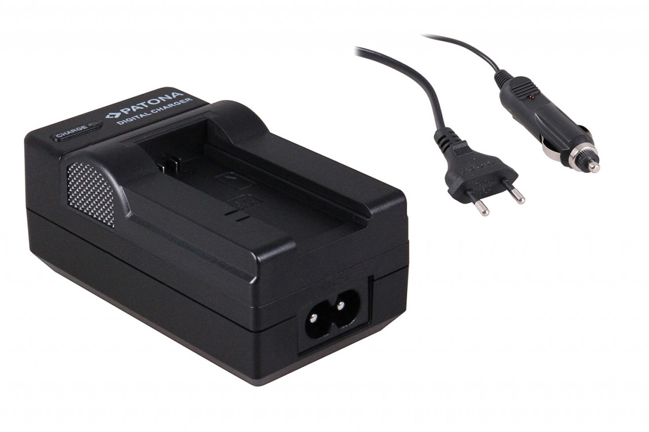 Charger for SONY-Battery NP-FC10, NP-FC11 incl.car-Charger