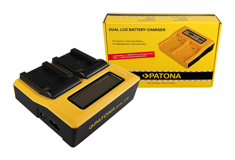 PATONA Dual LCD USB Ladegerät f. Sony NP-FS11 DCR-PC DCRPC1