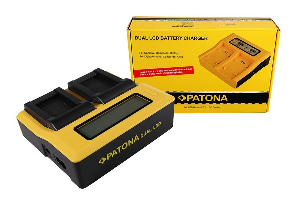 PATONA Dual LCD USB Ladegerät f. Sony NP-BX1 BX BX1 NP-BX1 C