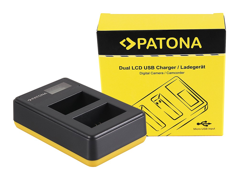PATONA Dual LCD USB Charger for f. Sony NP-FW50 NEX A33 A55