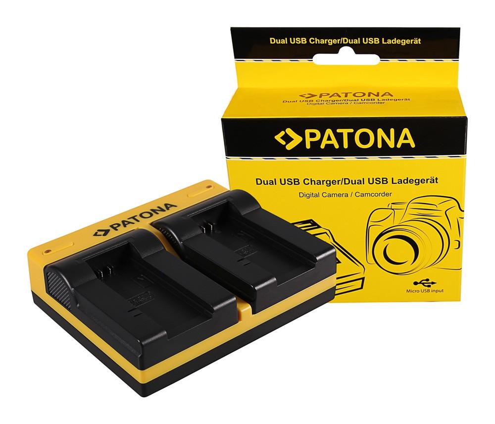 PATONA Dual Ladegerät f. Sony NP-FC10 Cyber-shot Point & Sho
