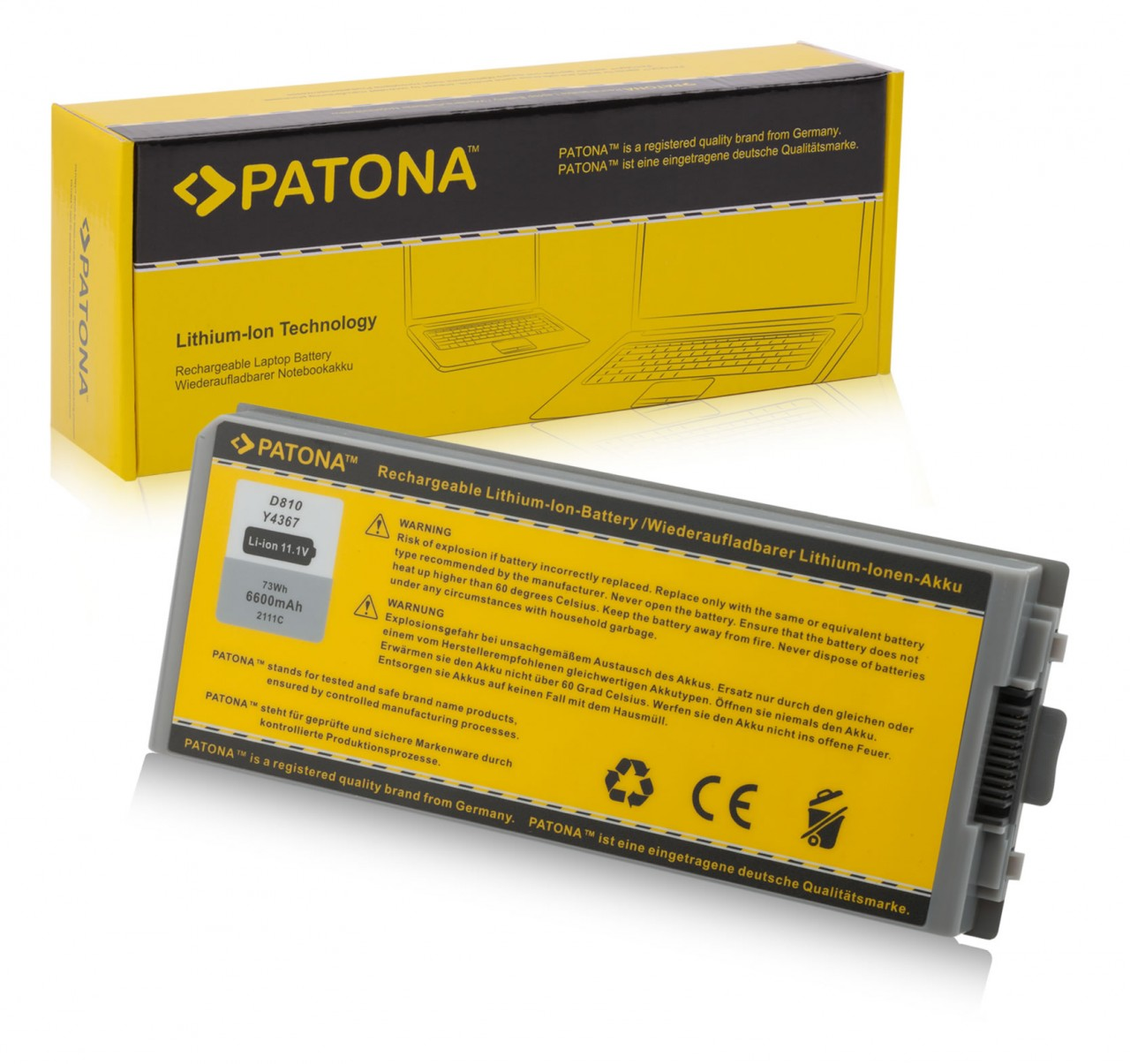 Battery Dell Latitude D810 Dell Precision M70 Y4367 G5226