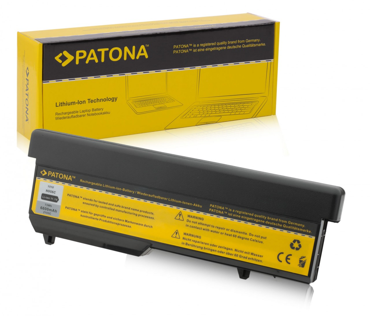 Battery for Dell 1310, 1320, 1520, U661H, 312-0724, T114C