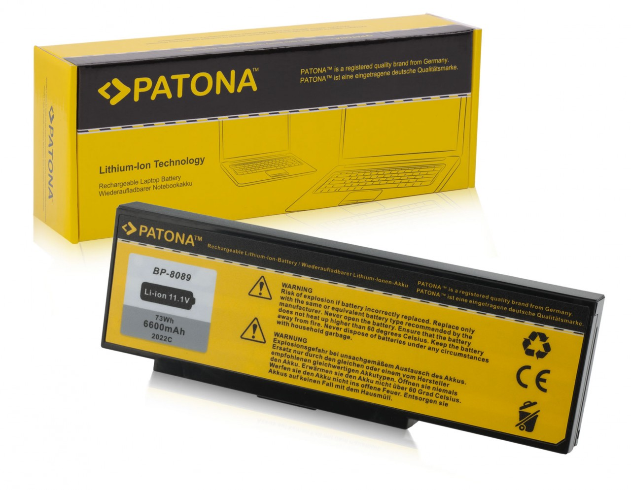 Battery f. Amilo K-7600 K7600 BP-8389 BP-8089 Mitac 8389