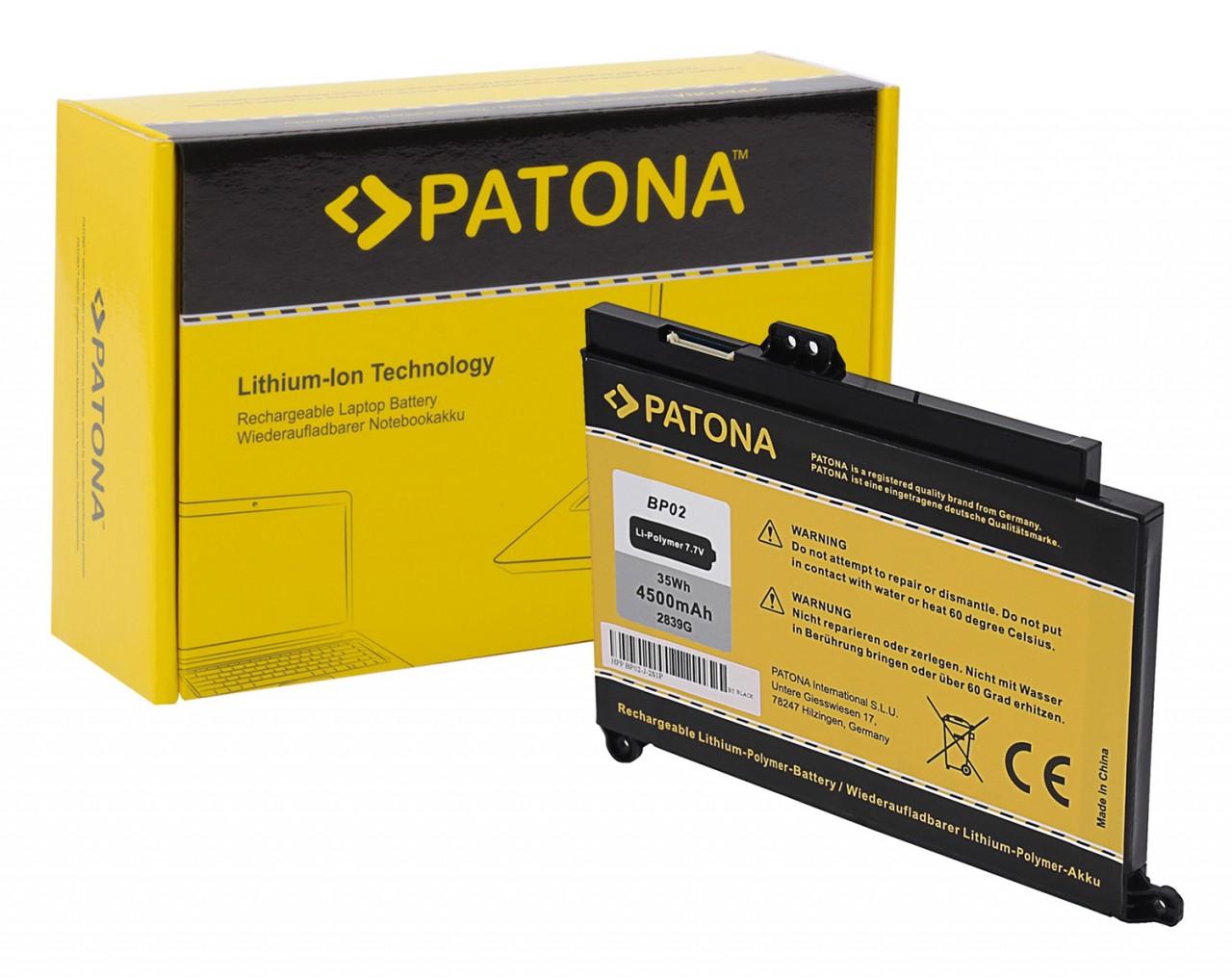 PATONA Battery f. HP Pavilion PC 15 BP02 BP02XL 849569-421 8