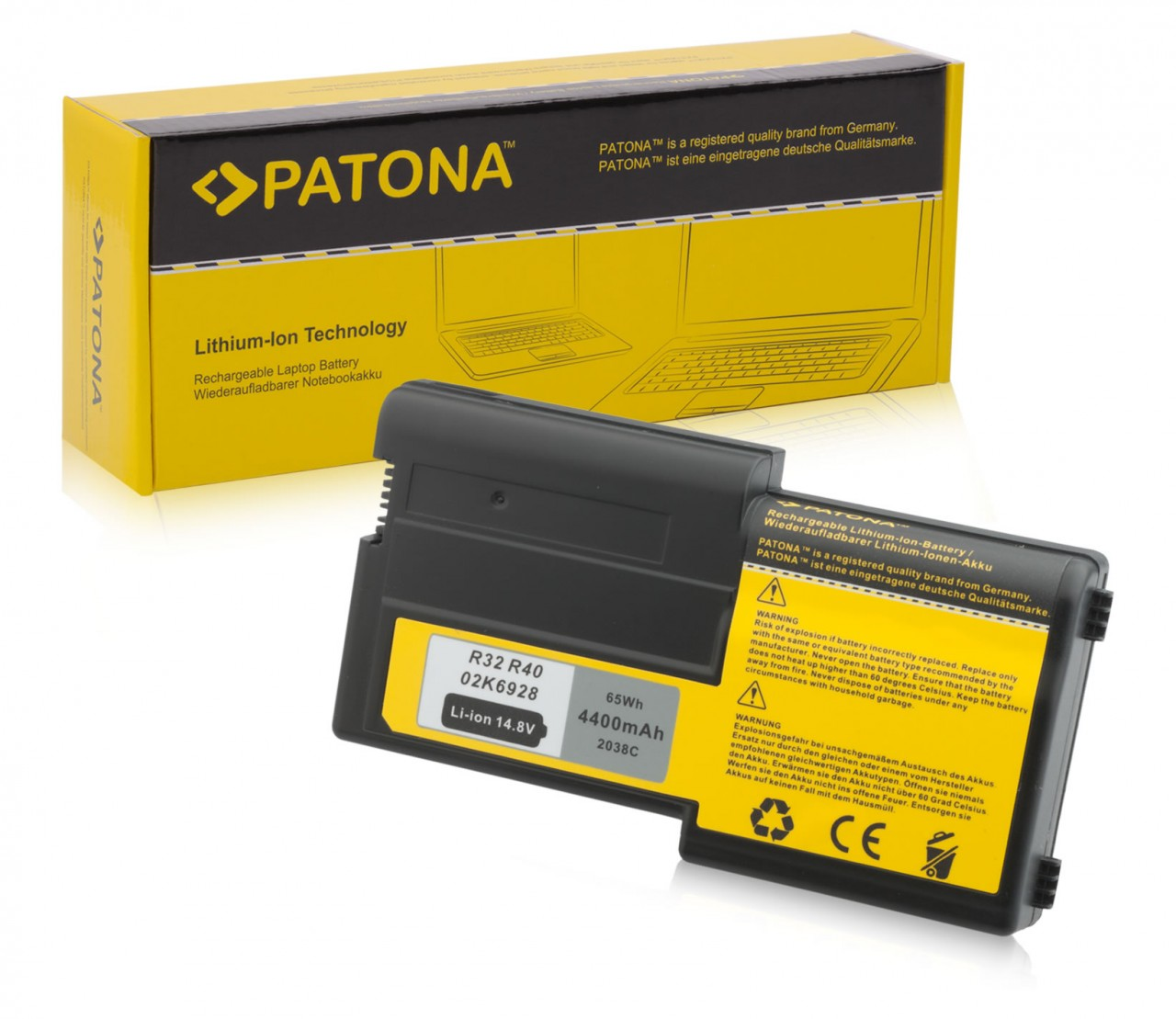 Battery f. IBM Thinkpad R40 R32 02K6928 02K6651 08K8024