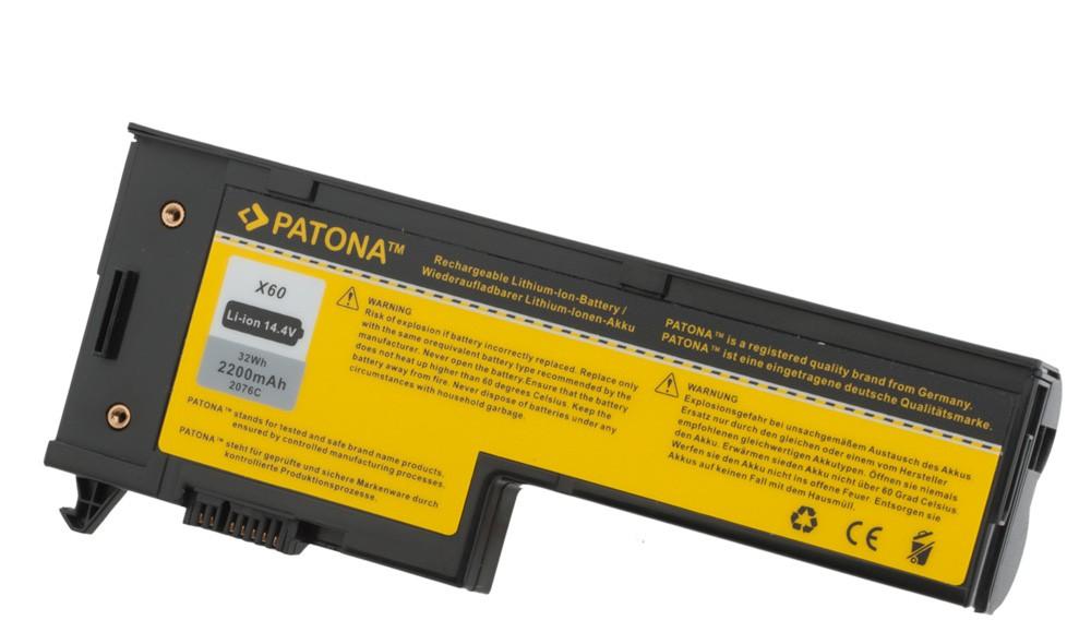 PATONA 4-Zellen Battery f. IBM ThinkPad X60 X61 1707 1708 17
