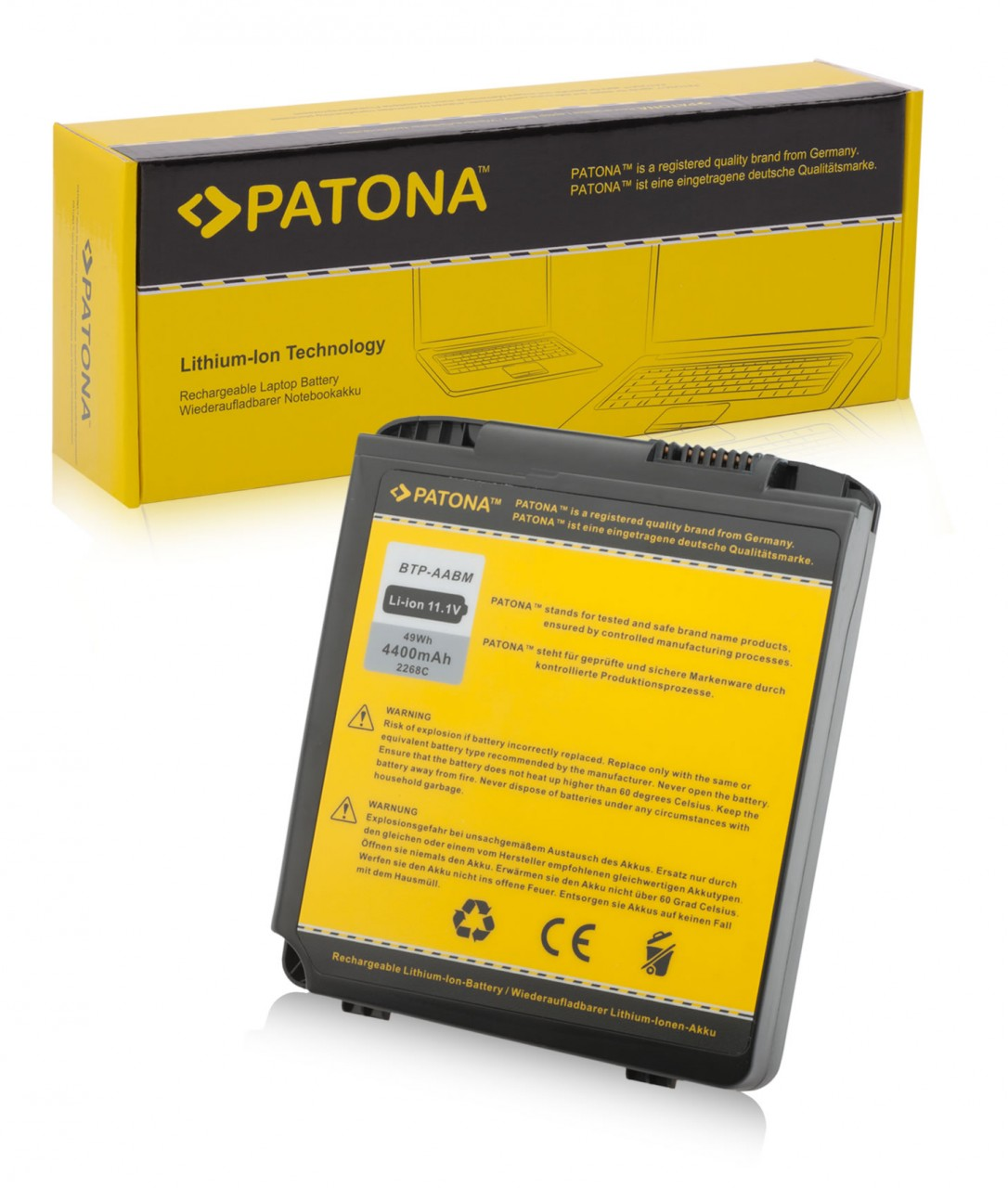 Battery f. Medion 40011354 BTP-ABBM BTP-AABM MD95800 WIM2070
