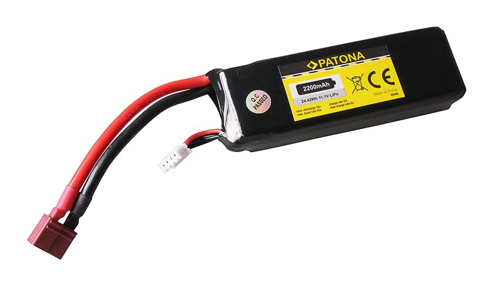 PATONA RC Battery 11,1V 2200mAh Dean Li-Polymer für Align T