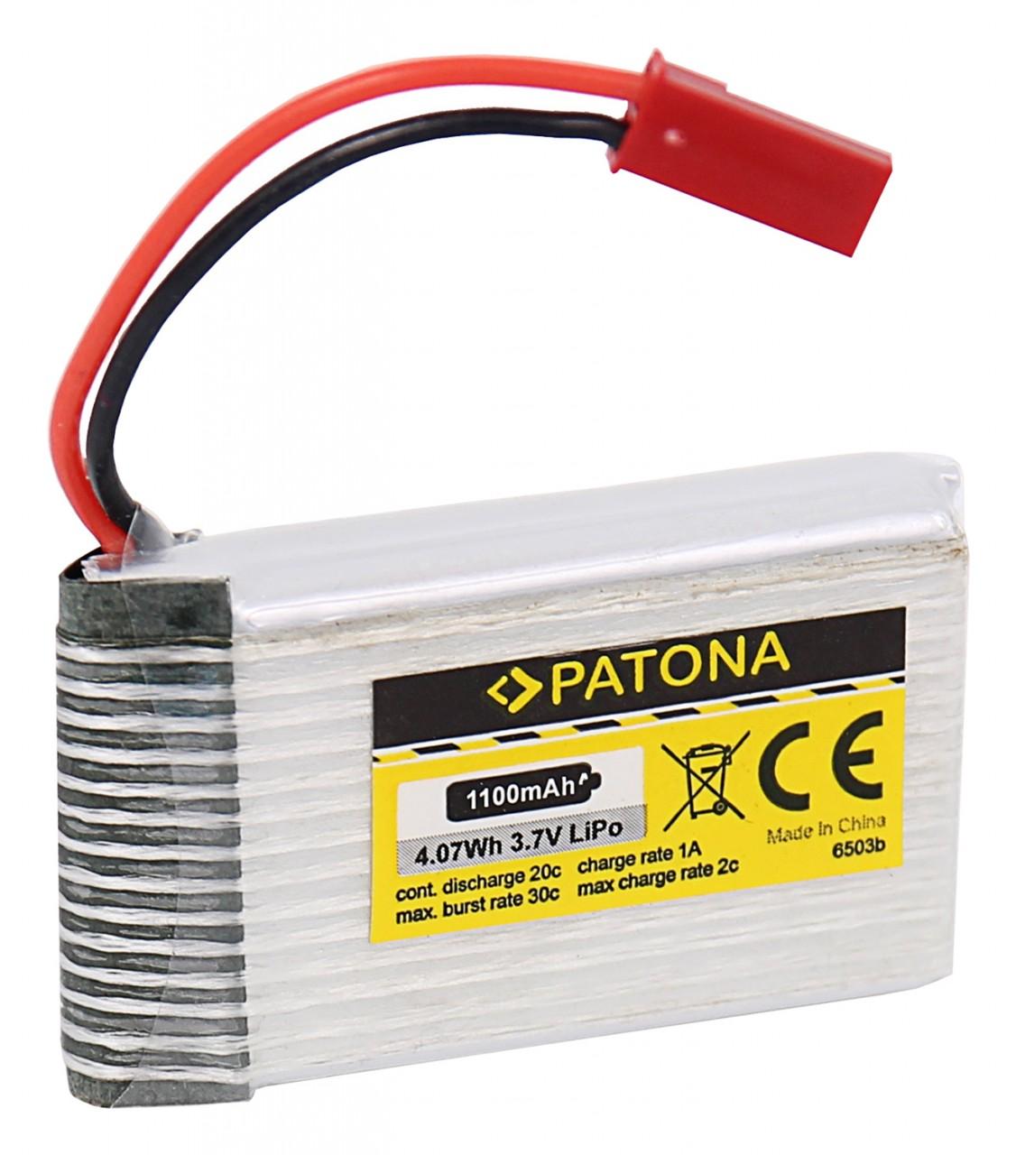 PATONA RC Battery 3,7V 1100mAh JST Li-Polymer für Walkera D