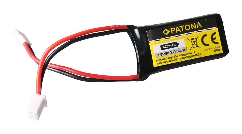 PATONA RC Battery 3,7V 420mAh Walkera Li-Polymer für Hubsan