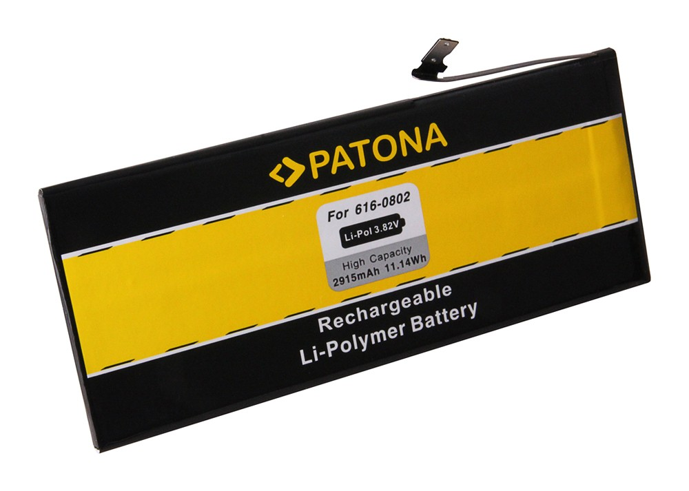 PATONA Battery f. Apple iPhone 6 Plus 616-0772, 616-0802