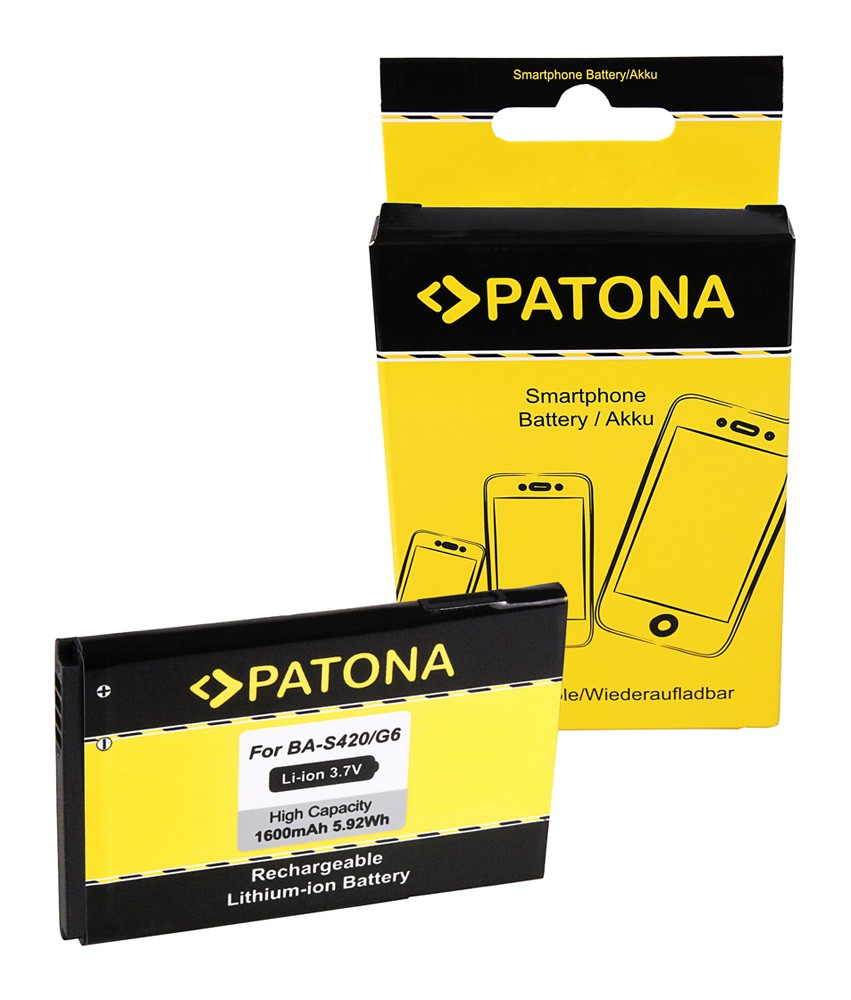 PATONA Battery f HTC BA-S420 HTC 7 Trophy A3333 A6363 T8686