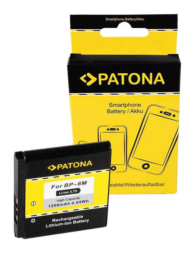 PATONA Battery f. Nokia BP-6M 3250 3250 6151 6233 6234 6280