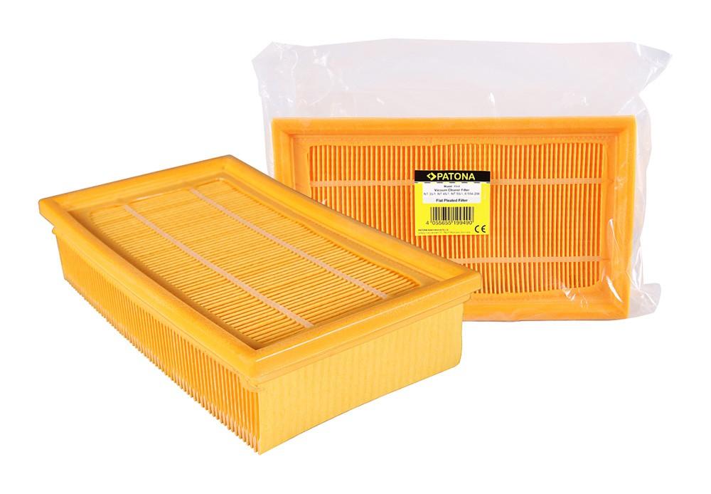 PATONA flat pleated filter f. Kärcher NT 35/1, NT 45/1, NT 5