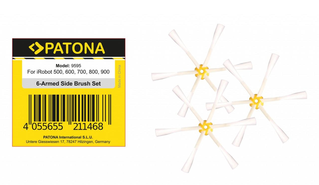 PATONA 3 side brushes for iRobot Roomba 500 600 700 800 900