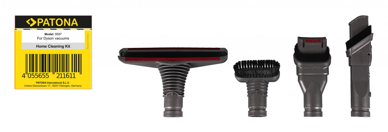 PATONA accessory set 4 pieces f. Dyson V6 V7 V8 V10 V11 SV10
