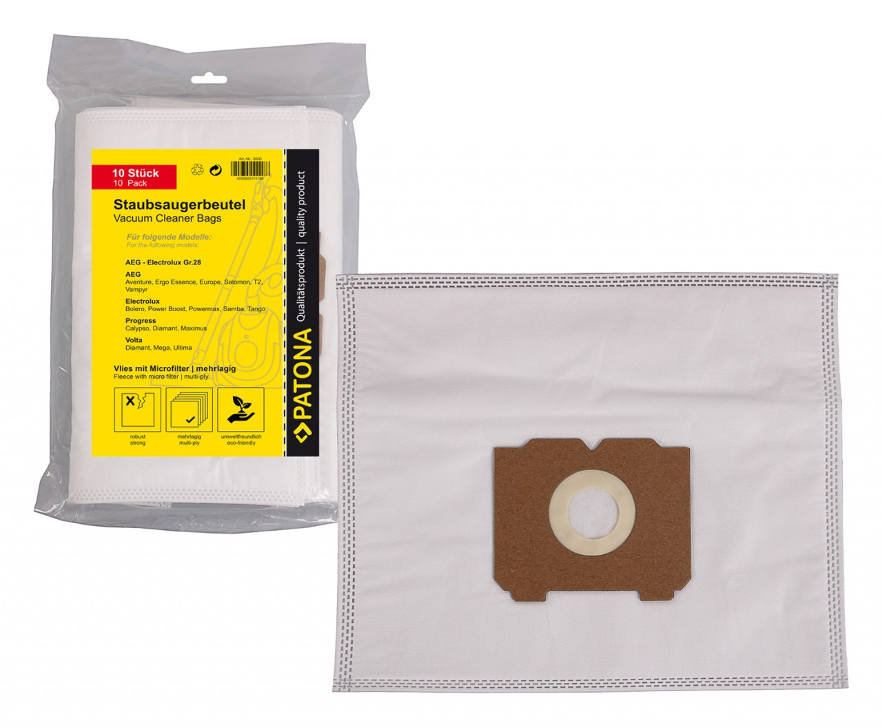 PATONA 10 STOFZUIGER bag multilayer fleece incl. Microfilter