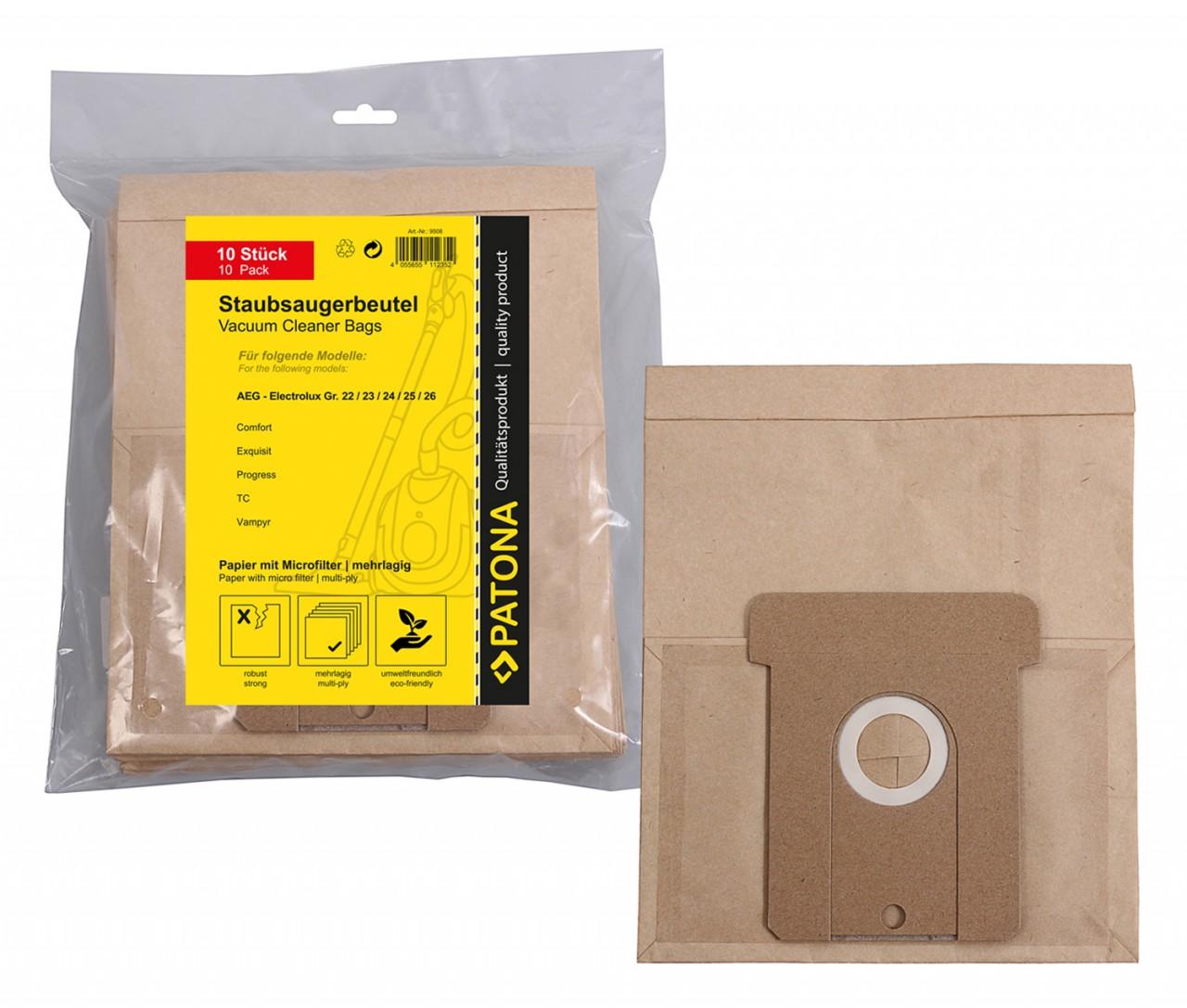 PATONA 10 STOFZUIGER bag multi layer paper incl. Microfilter